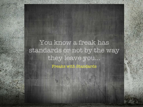 Freaks with Standards –  ew people